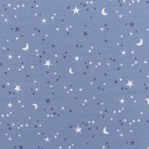 Jersey bleu motif nuit étoilée