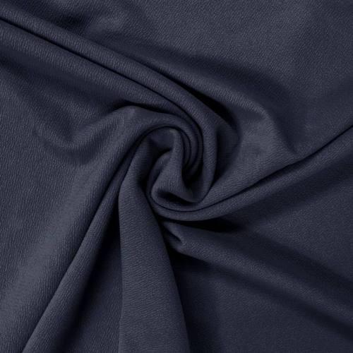Tissu crêpe satiné bleu marine