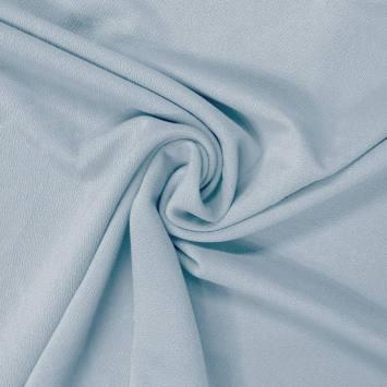 Tissu crêpe satiné bleu ciel