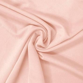 Tissu crêpe satiné rose dragée