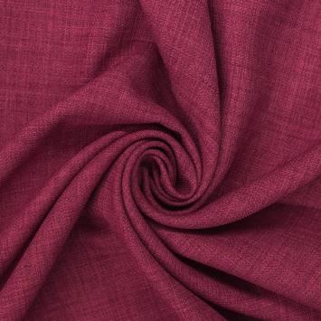 Tissu aspect lin framboise