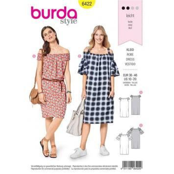 Patron Burda 6422 : Robe Taille 36-46
