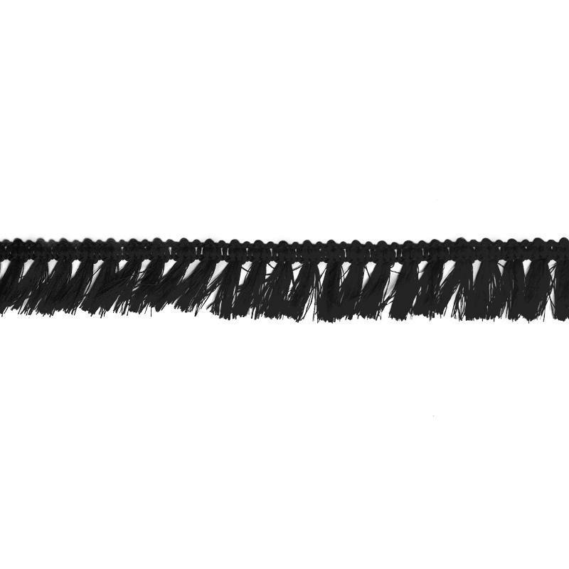 Galon à franges 27mm noir