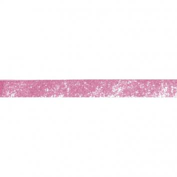 Galon pailleté rose 25mm