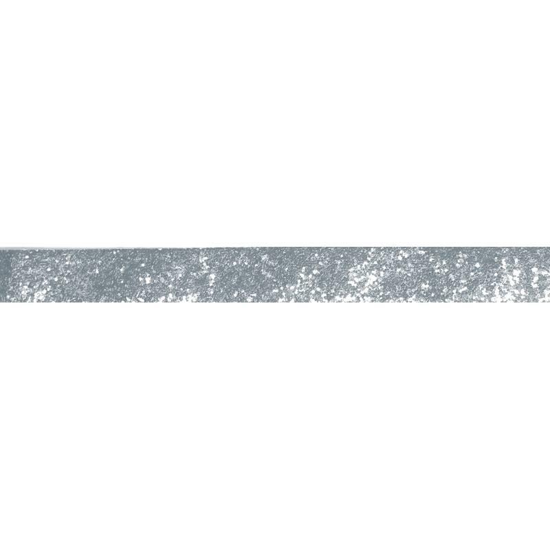 Galon pailleté gris 25mm