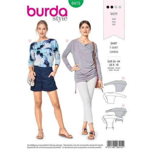 Patron Burda 6415 : T-shirt Taille 34-44