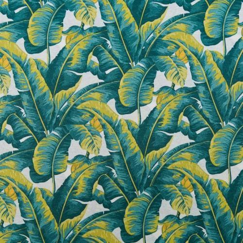 Toile polycoton enduite motif jungle
