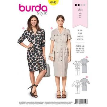 Patron Burda 6440 : Robe Taille 36-46