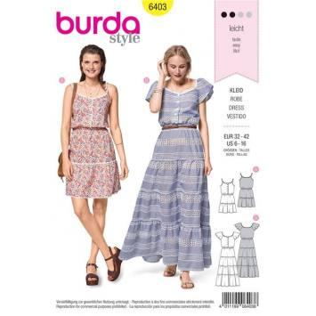 Patron Burda 6403 : Robe Taille 32-42