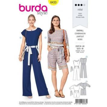 Patron Burda 6433 : Combinaison Taille 34-44