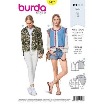 Patron Burda 6407 : Gilet et veste Taille 34-44