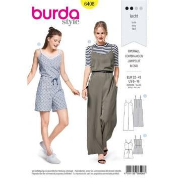Patron Burda 6408 : Combinaison Taille 32-42