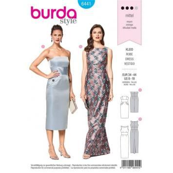 Patron Burda 6441 : Robe Taille 34-44