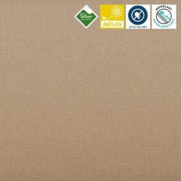 Toile extérieure Téflon grande largeur unie beige