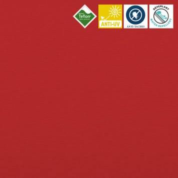 Toile extérieure Téflon grande largeur unie rouge