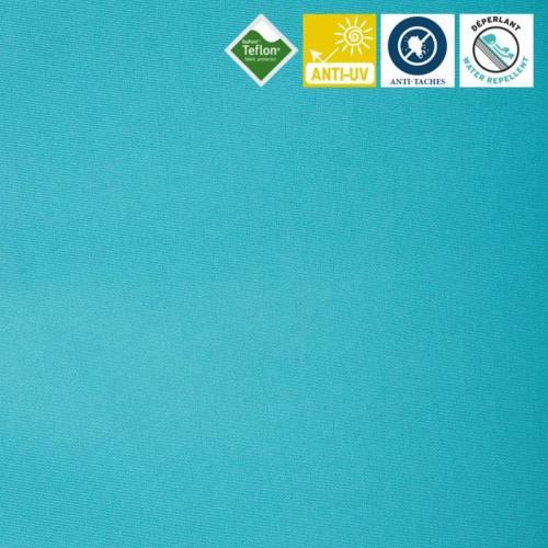 Toile extérieure Téflon grande largeur turquoise