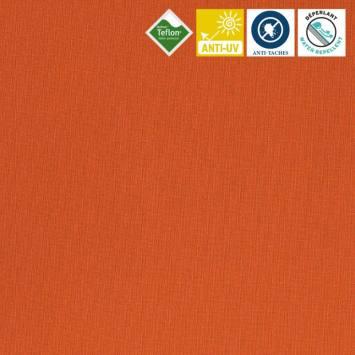 Toile extérieure Téflon grande largeur orange