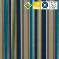 Toile extérieure Téflon grande largeur rayée elba bleue