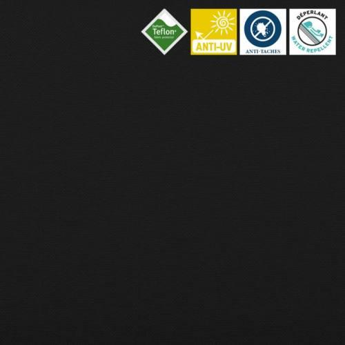 Toile extérieure Téflon grande largeur unie noire