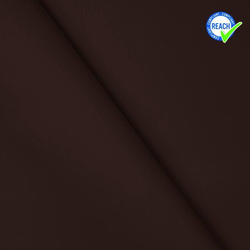 Simili cuir uni green chocolat noir