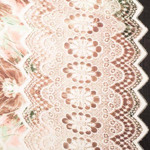 Mousseline multicolore motif boudoir