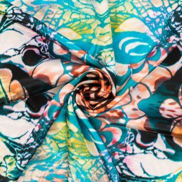 Satin imprimé butterfly wings multicolore