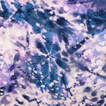 Mousseline satinée splash violet