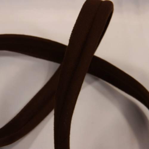 Passepoil marron foncé 45 mm