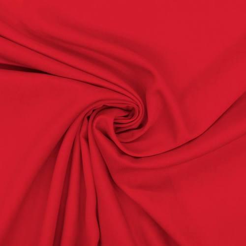 Tissu viscose twill rouge