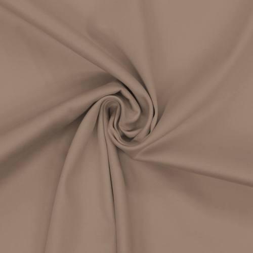 Coton satiné stretch taupe