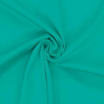 Coton satiné stretch émeraude