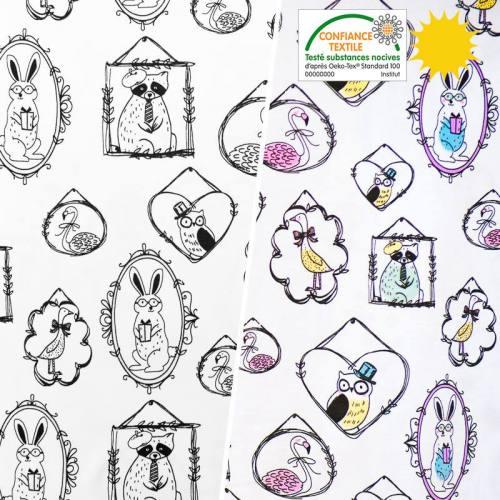 Jersey magique motif animaux