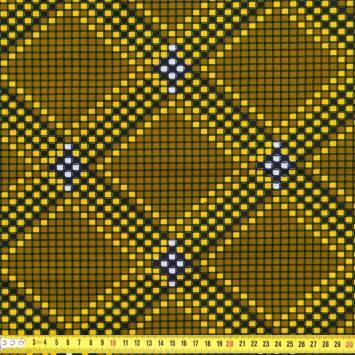 Wax - Tissu africain carré jaune 231