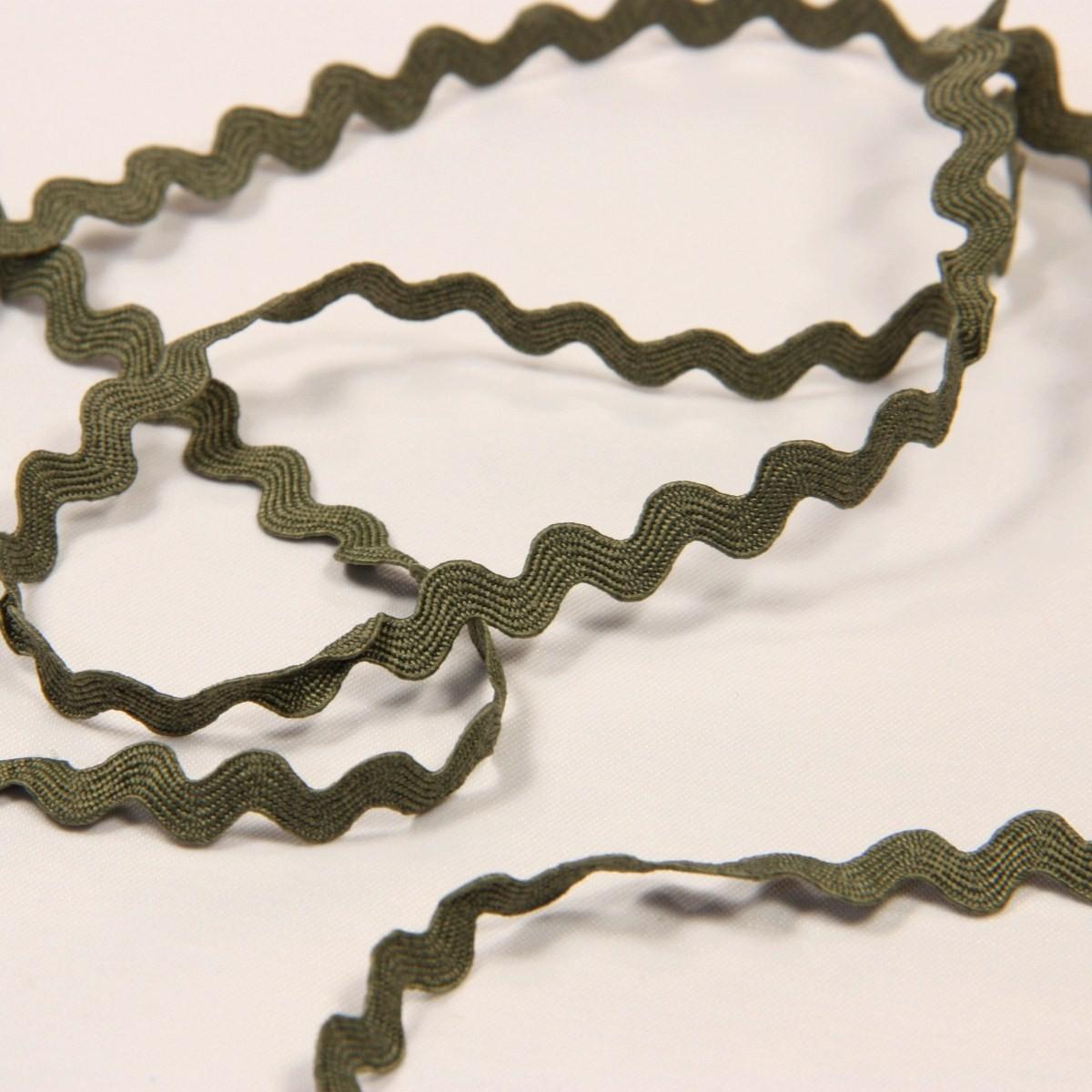 Croquet, serpentine, 6 mm kaki zig-zag