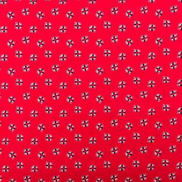 Coton rouge imprimé bouée de sauvetage