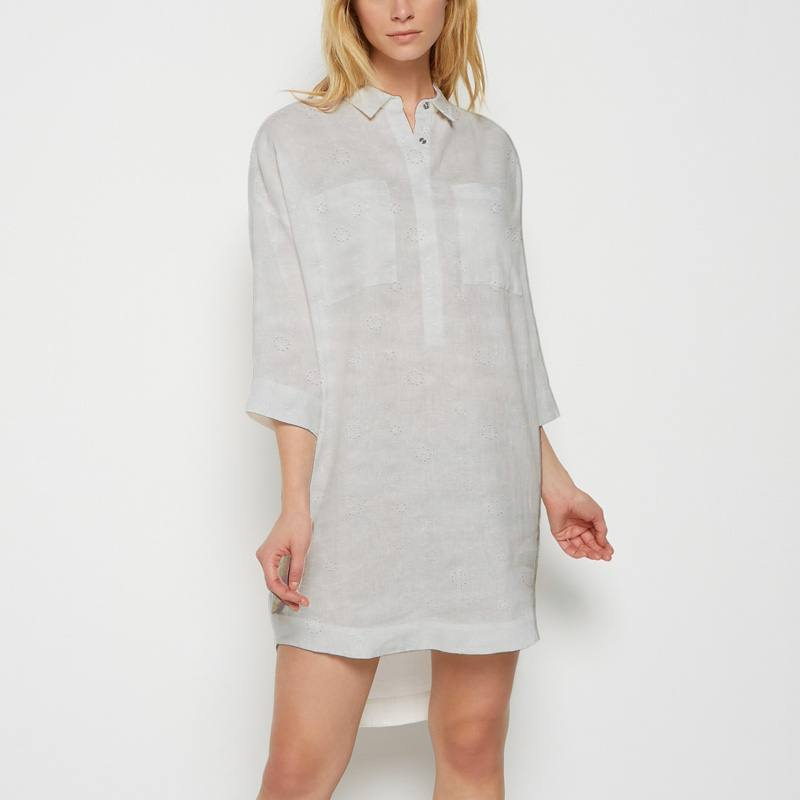 Broderie anglaise blanche pissenlit