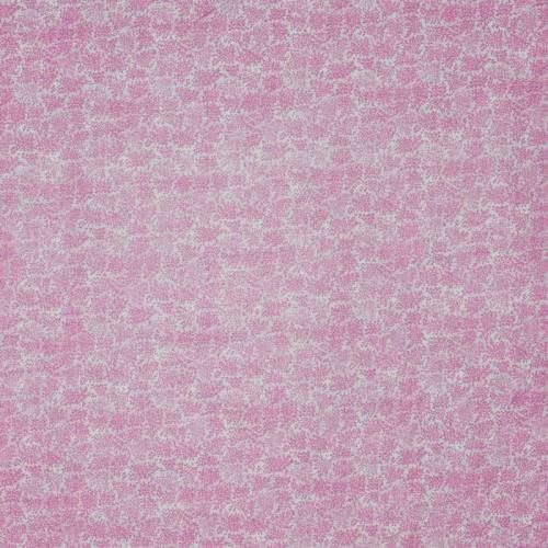 coupon - Coupon 49x50cm - Coton rose clair imprimé feuillage