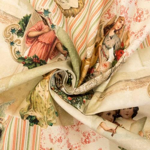 Toile coton motif scène religieuse