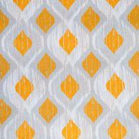 Toile coton grande largeur losange jaune, blanc et gris