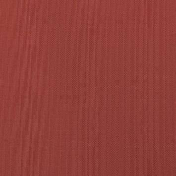 Toile polycoton aspect lin rouge
