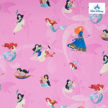 Coton Disney rose motif princesses