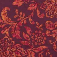 Tissu occultant lie de vin motif floral