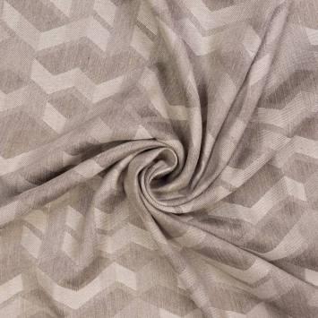 Jacquard couleur naturel motif géométrique gris urbain