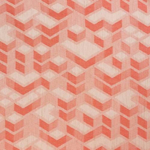 Jacquard couleur naturel motif géométrique corail