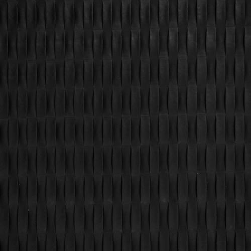 Simili cuir noir relief rectangle