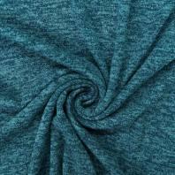 Jersey lainage brillant bleu pétrole