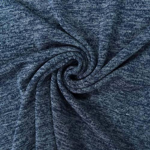 Jersey lainage brillant bleu foncé