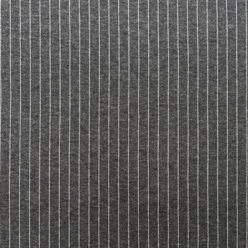 Jersey gris foncé motif rayure blanche
