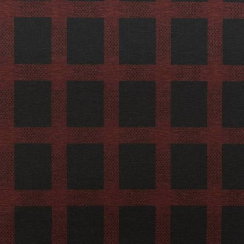 Jersey stretch noir motif carreau rouge
