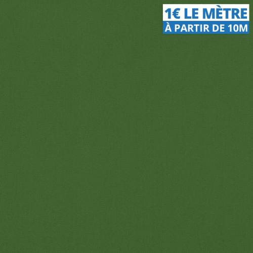 Toile polyester unie vert